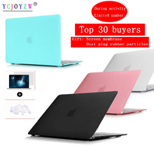 цена Laptop Case For Apple MacBook Air Pro Retina 11 12 13 15 for mac book New Air 13 Pro 13 15 inch with Touch Bar+Dust plug Cover онлайн в 2017 году