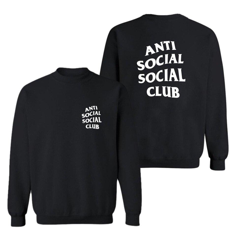Anti Social Social Club Print Hoodies Cool Black Men/Women Fashion HipHop Style Cotton Sweatshirts Funny Luxury In Plus Size 4XL