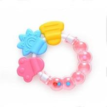 Newborn Comforting Educational Toys Durable Baby Infant Kid Rattles Biting Teething Teether Balls Toys Circle Ring
