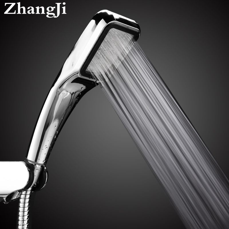 Zhang Ji Bathroom 300 Holes Hand Hold Rainfall Shower Head Water Saving Square ABS High Pressure Water Therapy Shower Head
