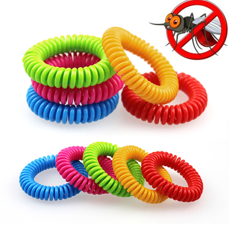 5pcs Colorful Environmental Protection Silicone Wristband Summer Mosquito Repellent Bracelet Anti-mosquito Band Safe For Child
