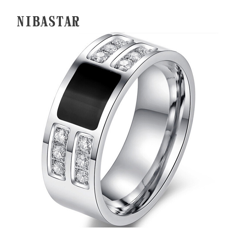 Brand High Quality CZ Crystal Superhero Black Mens Ring Silver Plated Stainless Steel Best Selling Ring