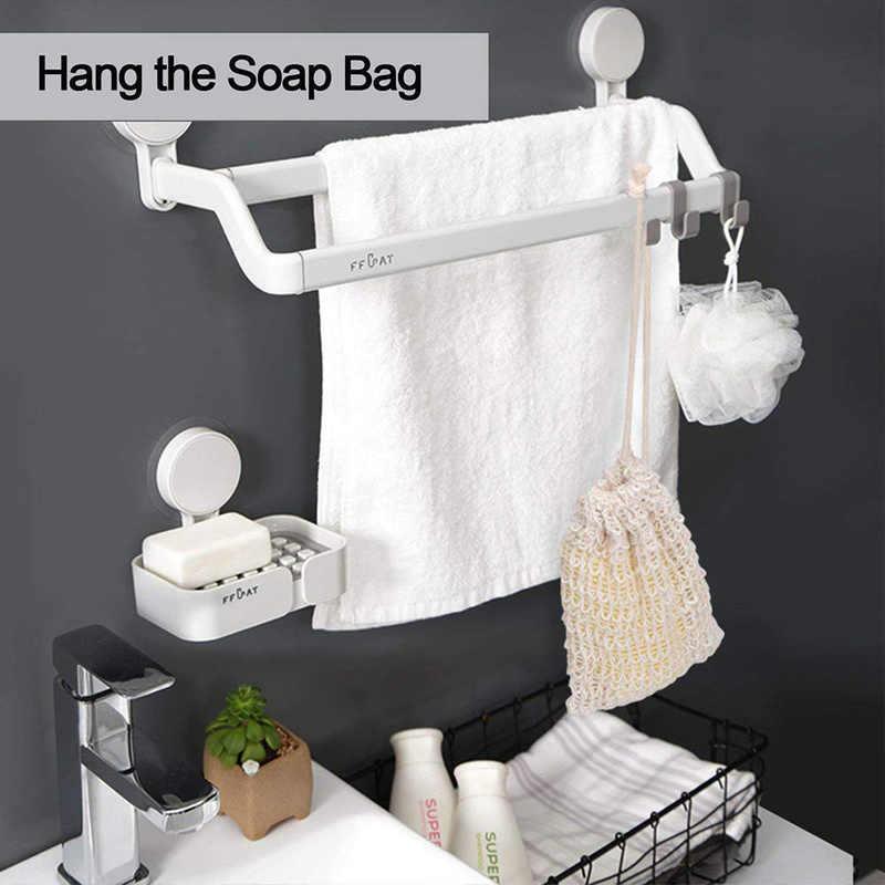 Скрубберы для мытья тела хлопок и лен Чистая сумка ванной мыло на шнурке сетчатый