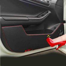 Искусственная кожа двери автомобиля Защита Наклейки автомобиль-Стайлинг для FORD Ecosport 2013 2014 2015 2016 автомобильные аксессуары