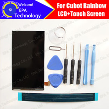 Cubot Rainbow LCD Screen Display Original New Tested Top Quality Replacement LCD Display For Rainbow+tools+adhesive