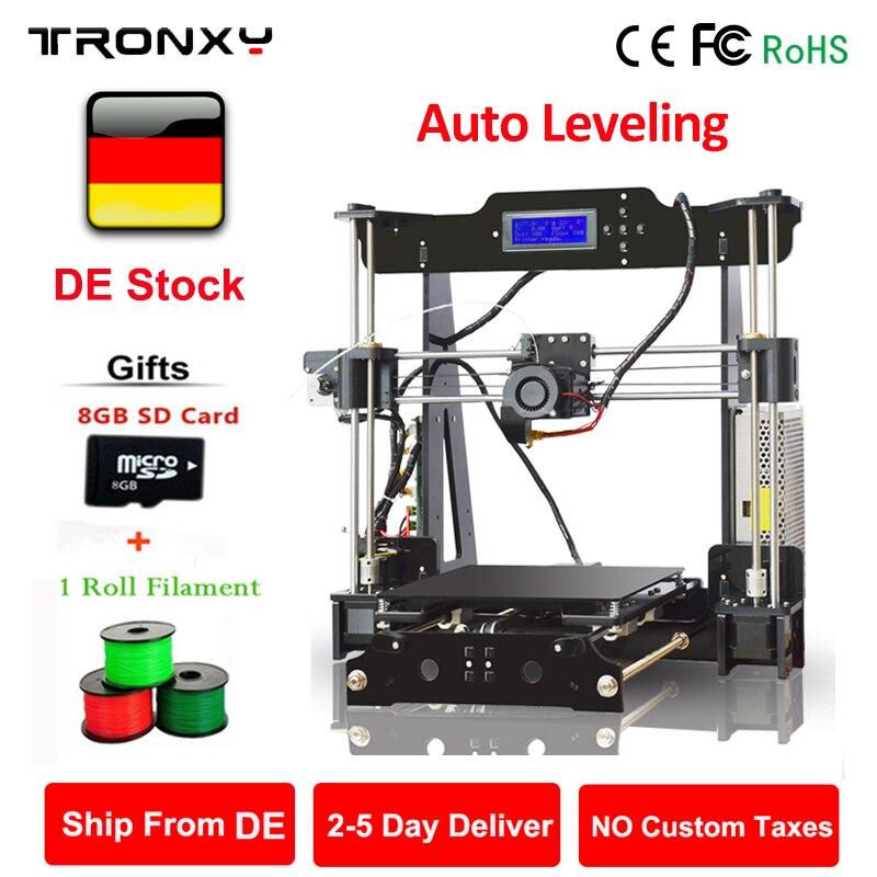Haute précision Tronxy 3D imprimante bricolage Auto niveau i3 kits d'imprimante extrudeuse MK3 lit thermique 3D taille d'impression 220x220x240mm écran LCD