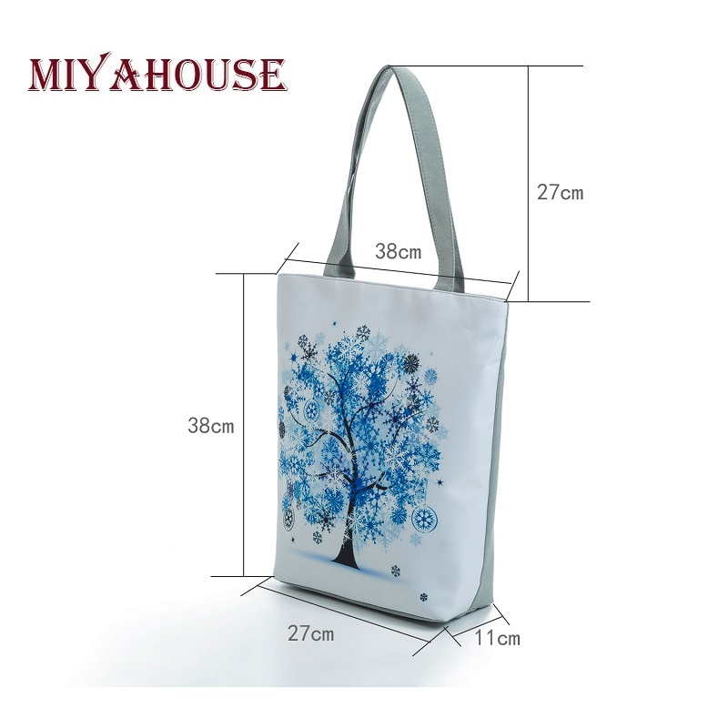 Miyahouse Harajuku Style Colorful Painting Shoulder Bag Women Large Capacity Shopping Bag Female Casual Tote Handbag 2