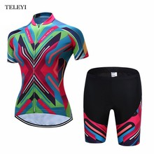 SAIL SUN Summer Ropa ciclismo Women MTB Cycling Jerseys Short Sleeves Bike Bicycle Shirts Padded Cycling Short +Bib Short Wear