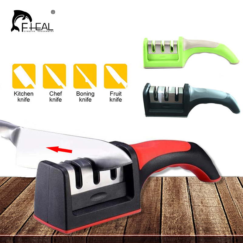 Knife Sharpener Knives-Accessories Whetstone Stone-Knives Ceramic Diamond Steel Kitchen title=