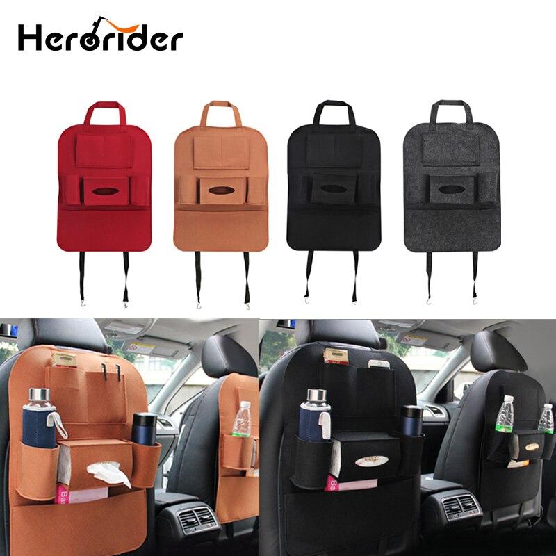 Herorider Car Seat Bag Organizer Multi Pocket Storage Bag Car Seat Cover Seat Back Box Organizer Holder Car Styling