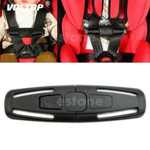 1pcs Car Seat Belt Clip Pad Pillow Baby Safety Strap Harness Chest Child Safe Buckle Durable Black