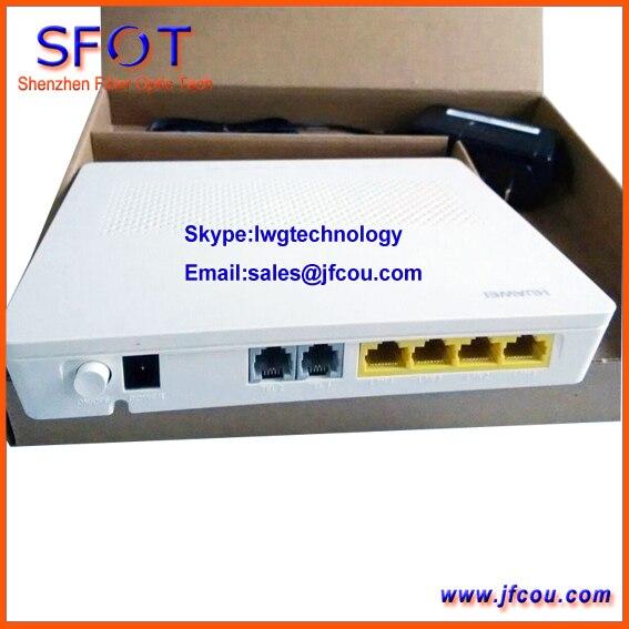 Nuevo Original Hua wei HG8342M Echolife Gpon Terminal, ONU, + 4LAN 2 OLLAS, H.248 y SIP versión Inglés, HG8240F contacto