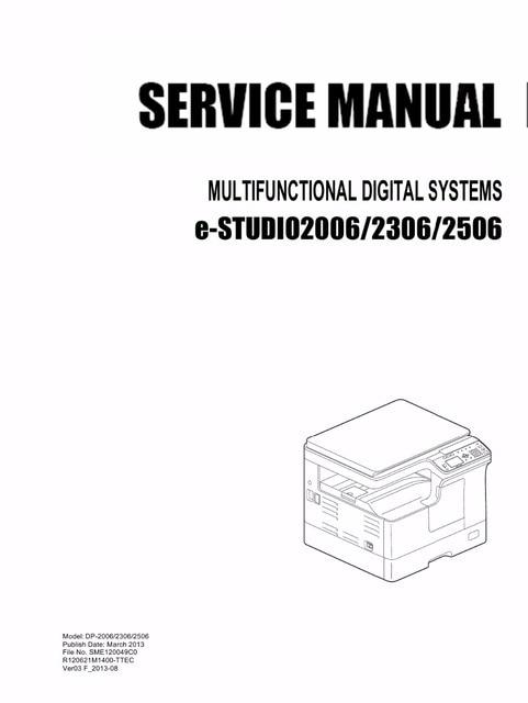 copier service manual for toshiba e studio 2006 2306 2506 in english rh aliexpress com Toshiba C6520 Service Manuals toshiba e studio 163 service manual free download