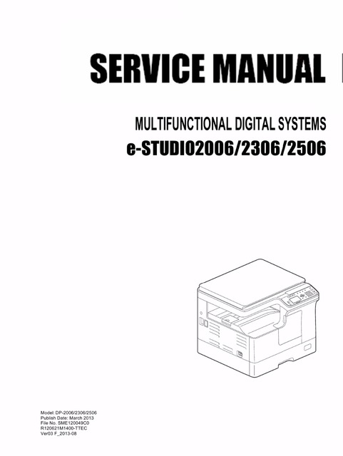 toshiba dp 3580 service manual