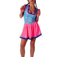 Custom made Latex One piece Dress Rubber Latex pleated skirt Maid Latex Uniform Dress With Apron