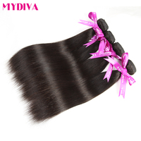 Mydiva Hair Extension Brazilian Straight Hair Bundle 100 Human Hair Weave 8 28 Inch Non Remy