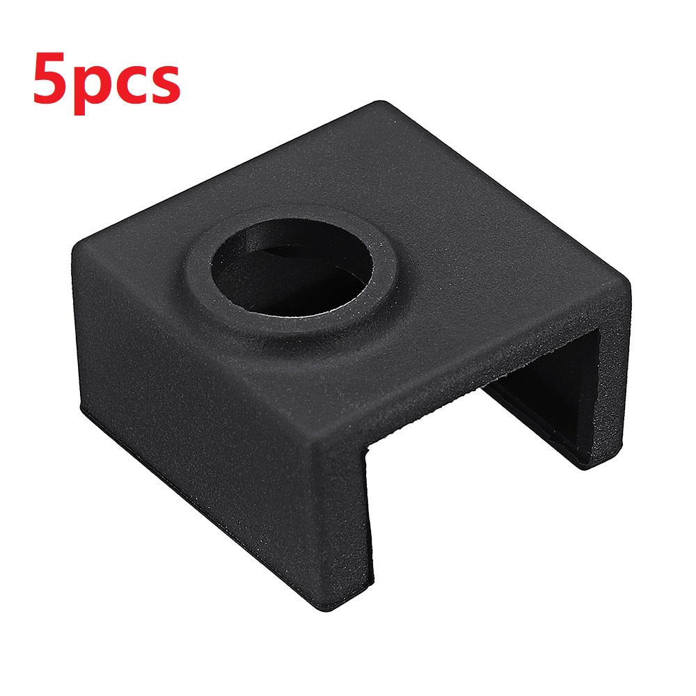 5pcs Hotend Heating Block Silicone Cover Case For Creality <font><b>CR</b></font>-10/10S/<font><b>10S4</b></font>/10S5/Ender-3/CR20 3D Printer Part Accessories image