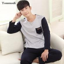 Men's Pajamas Spring And Autumn Cotton Sleepwear Pullover Pyjamas Casual Sports Men Lounge Pajama Set