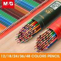 M & G 12/18/24/36/48 цветов масляный цветной карандаш набор для рисования цвет ing цвет es цвет ing цветные карандаши упаковка для школьников