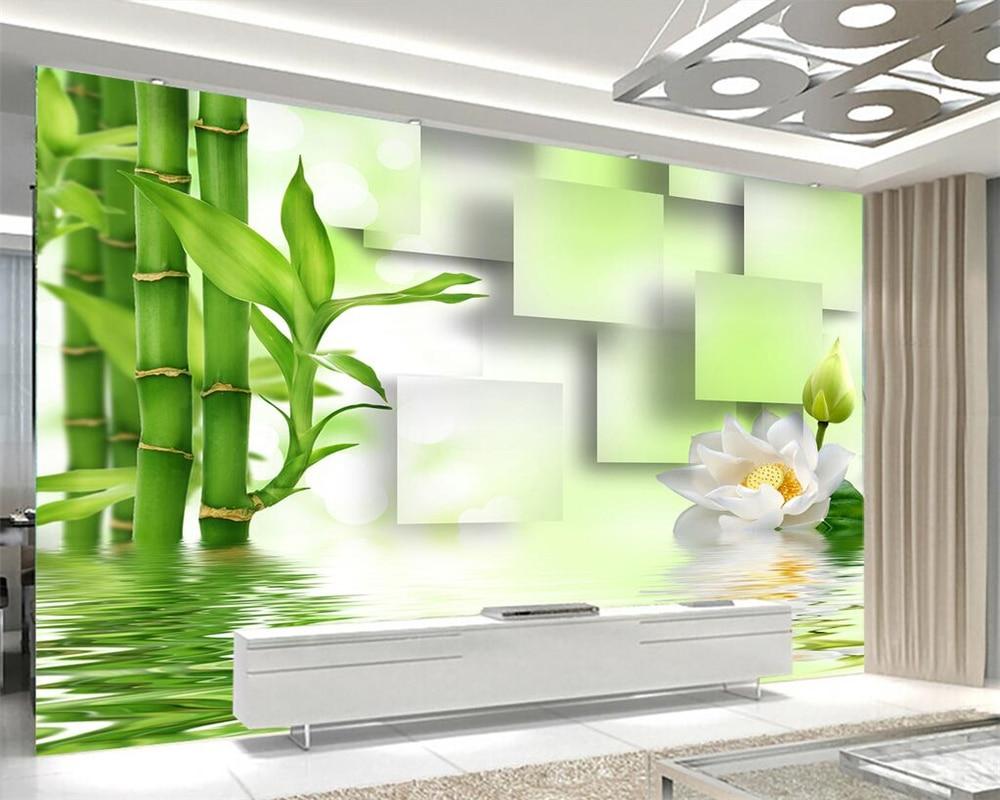 Home Improvement Temperate 3d Wallpaper Custom Photo Wallpaper Living Room Mural Jade Carving Bamboo 3d Painting Sofa Tv Background Wallpaper For Wall 3d Wallpapers