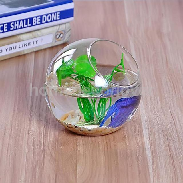 Crystal Glass Hydroponic Flowers Plant Vase Fish Tank Fairy Garden