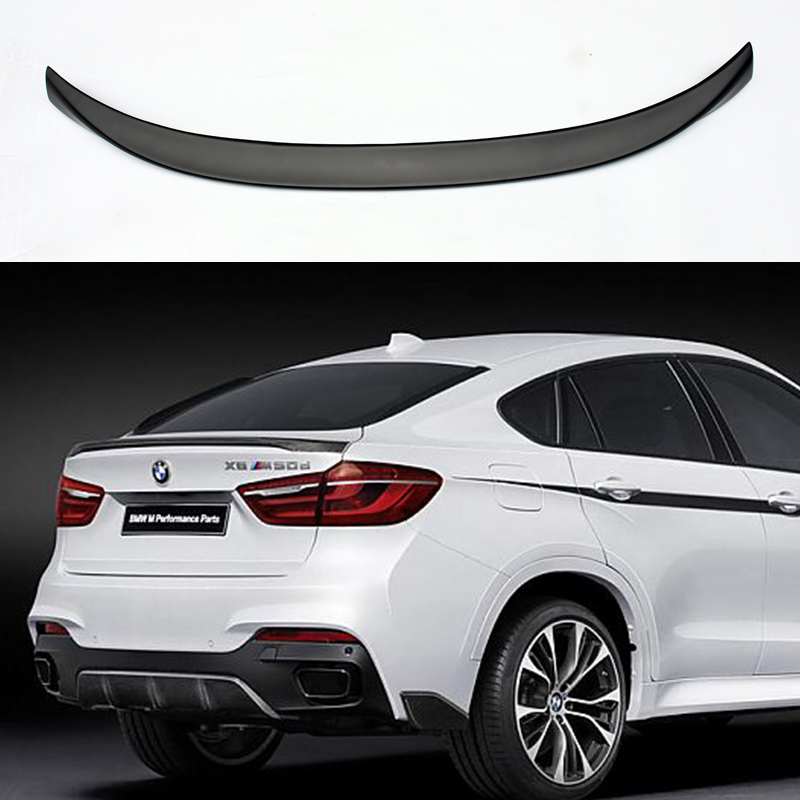 X6 F16 M-Performance Style FRP Primer Auto Car Rear Trunk Spoiler Wing for BMW X6 F16 2014-2016