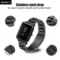 galaxy s4 20mm Bracelet Strap For Xiaomi Huami Amazfit Bip Metal Watch Band For Samsung Galaxy Watch Active S2 S4 Silicone Pulsera Correa (2)