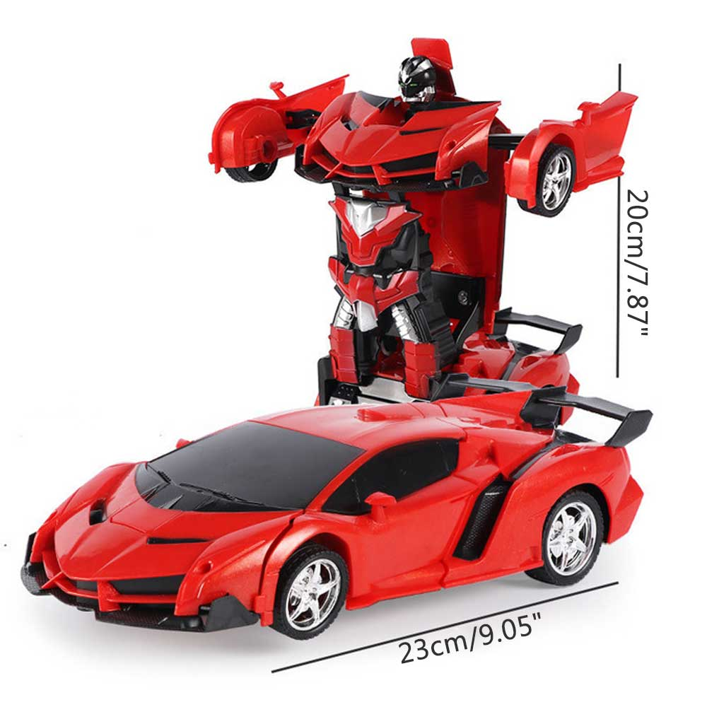 Rc Transformer 2 in 1 RC Car Driving Sports Cars Drive Transformation Robots Models Remote Control Car RC Fighting Toy Gift in RC Cars from Toys Hobbies
