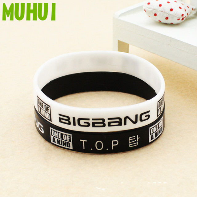 Kpop Bang Top One Of A Kind Silicon Bracelets For Women Men Jewelry Wristband Pulseras B075
