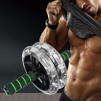 200mm Double wheeled Muscle Trainer Abdominal Wheel Noiseless Abdominal Roller Gym Tool Fitness Equipment Exercise Accessory