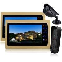 YSECU 10 Colorful Video Door Phone Doorbell Intercom Kit IR Night Vision Camera Monitor For Home