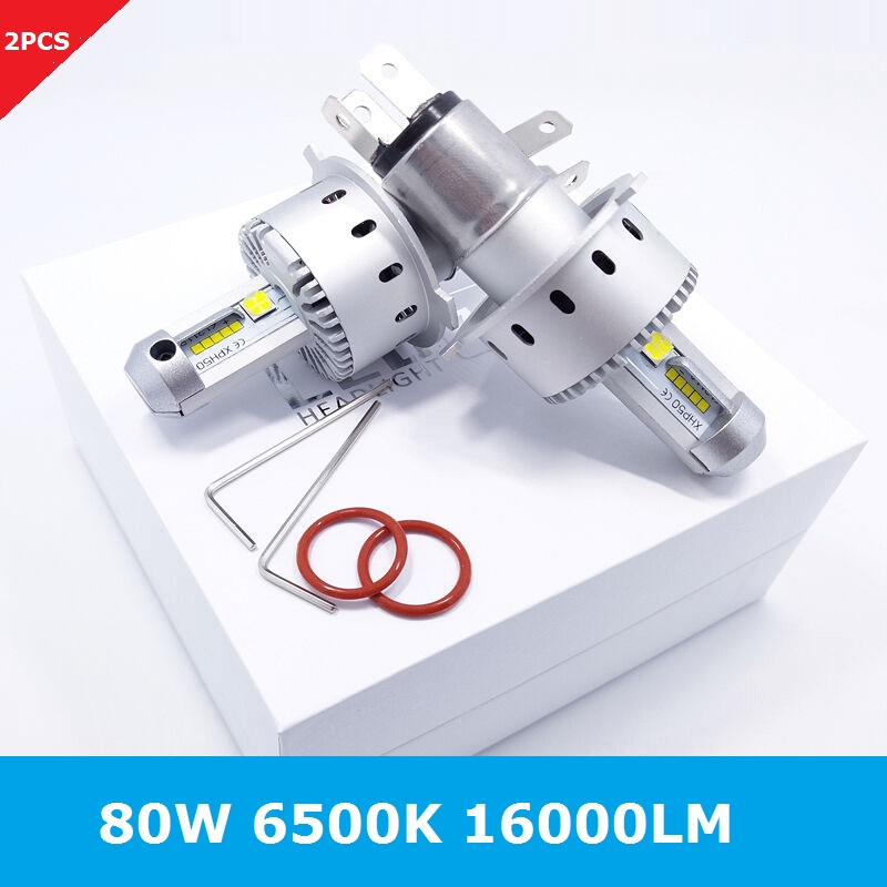 2Pcs H4 LED H1 H3 H7 H8 H9 H11 H13 9005 9006 9007 Auto 7S Car Headlight Bulbs LED 80W 16000LM Auto Bulb Headlamp 6500K Light