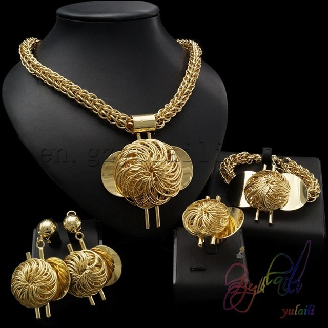 sets women plated gold accessories choke new s tree leaves necklace jewellery womens life fashion jewelry wholesale big dubai