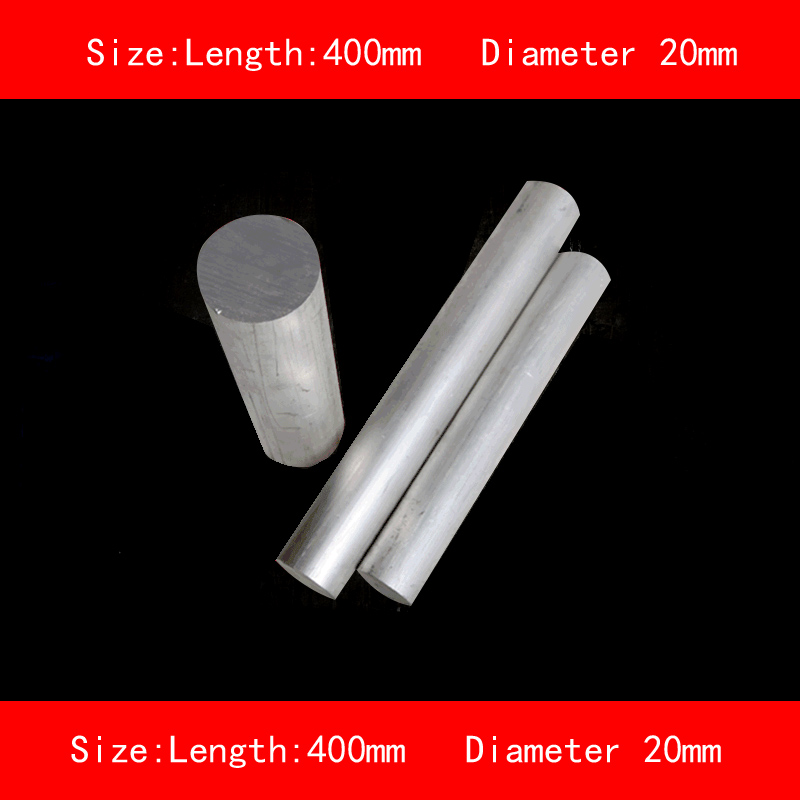 smooth surface length 400mm diameter 20mm silver 6061 aluminum rod bar smooth surface 304 stainless steel rod diameter 25mm length 200mm anti corrosion metal