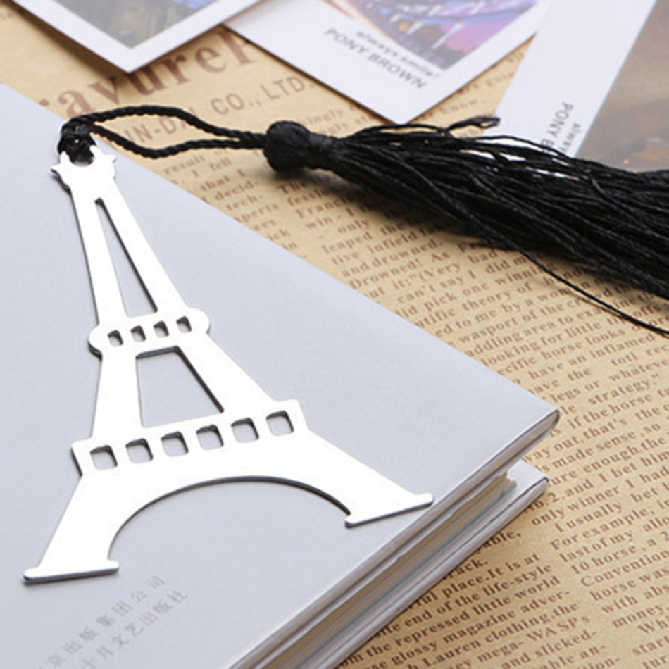 1Box Hollow Eiffel Tower Bookmarks Metal Silver Color Greeting Cards ...