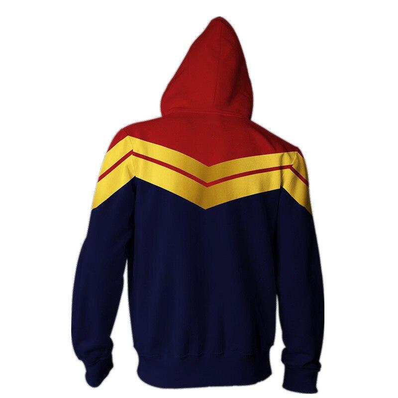 Image 3 - Anime Sweatshirts Hoodie Captain Marvel Avengers Carol Danvers Cosplay Costume Jacket Halloween Men Woman Top-in Movie & TV costumes from Novelty & Special Use
