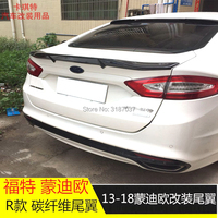 For Ford Mondeo / Fusion auto parts new models FRP fiberglass Unpainted Rear Roof Spoiler Wing Trunk Lip Boot Cover Car Styling