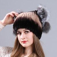 MIARA.L new otter rabbit fur lady hat fox fur cat ear hat winter thickening warm hat manufacturer wholesale