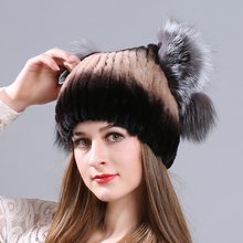 MIARA.L new otter rabbit fur lady hat fox cat ear winter thickening warm manufacturer wholesale