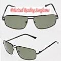 !!! Polarized óculos de leitura!!! liga de al e mg fram óculos de sol pretos dos homens óculos de sol do carro + 1.0 + 1.5 + 2.0 + 2.5 a + 4