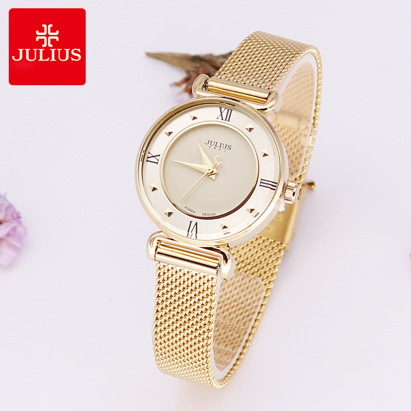 Top Julius Lady Women's Watch Japan Quartz Hours Fine Fashion Clock Bracelet Stainless Steel Girl Birthday Mother's Gift new simple cutting glass women s watch japan quartz hours fashion dress stainless steel bracelet birthday girl gift julius box