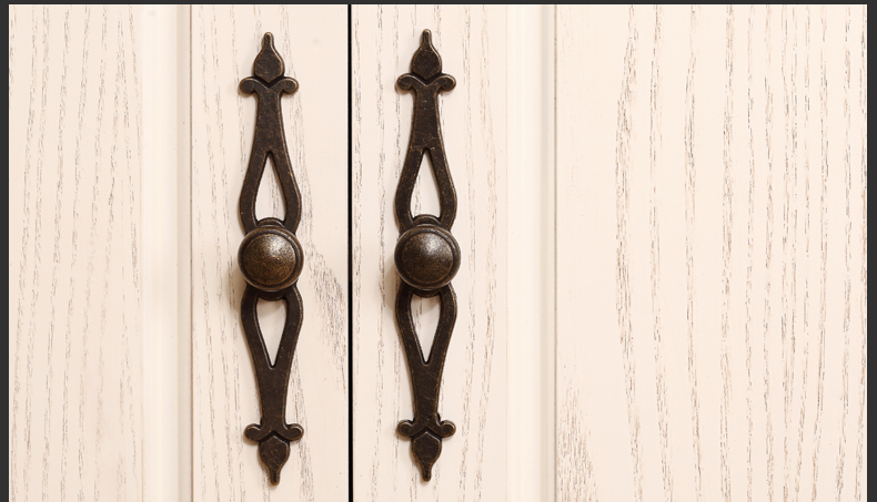 Vintage Alloy Cabinet Wardrobe Cupboard Knob Drawer Door Pulls Arch Handles And Knobs 2 Length