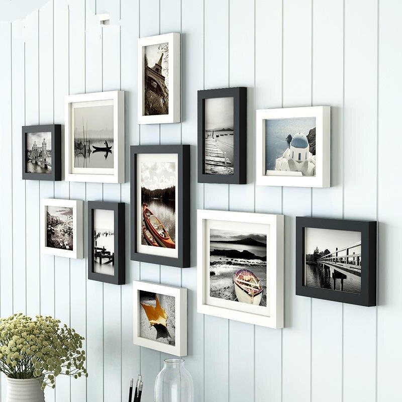 European Style 11 pcs/set Photo Frame White Black,Creative Multi ...