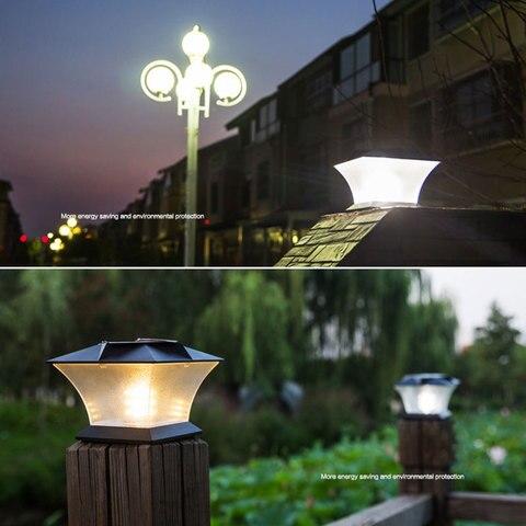 solar powered led pos cap conves quadrado cerca de luz da lampada paisagem a prova