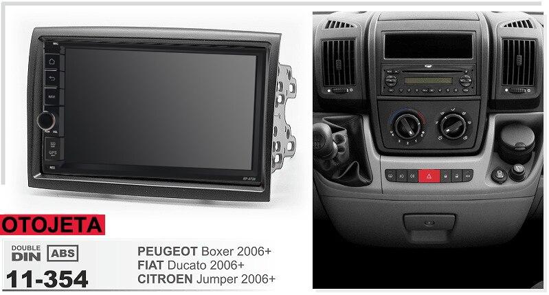 Navirider GPS Bluetooth stéréo android 9.1 voiture multimédia pour Peugeot Boxer Fiat Ducato citroën Jumper 2006 + autoradio + cadre