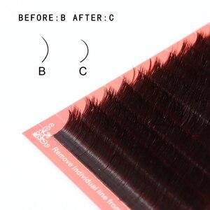 Image 3 - 2019 cílios magnéticos brown b/c 1sec ventilador automático cílios volume rápido cílios extensões vison cílios auto fanning blooming lash