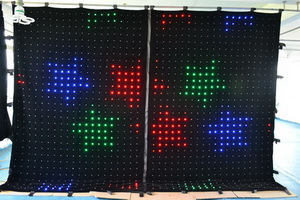 Rasha P7 3M*4M RGB 3in1 LED Video Curtain for Wedding Party LED Vision Curtain DJ Booth Background Event Production freeshipping 2 mtr x 4 mtr p18 matrix led rgb dj party garden star video curtain backdrop for home garden birthday party