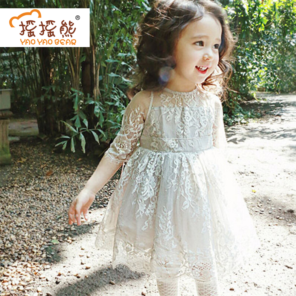 Summer Girls Dress Baby Clothing Kids Dresses For Girls Wedding Dress Children Clothing Fashion Lace Princess Dress baby girls dress summer 2017 brand girls wedding dress cotton princess dress for girls clothes kids dresses children clothing