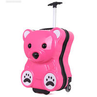 Cubs PC children's trolley case,cute waterproof and shockproof luggage,primary school suitcase,first to sixth grade plastic bag