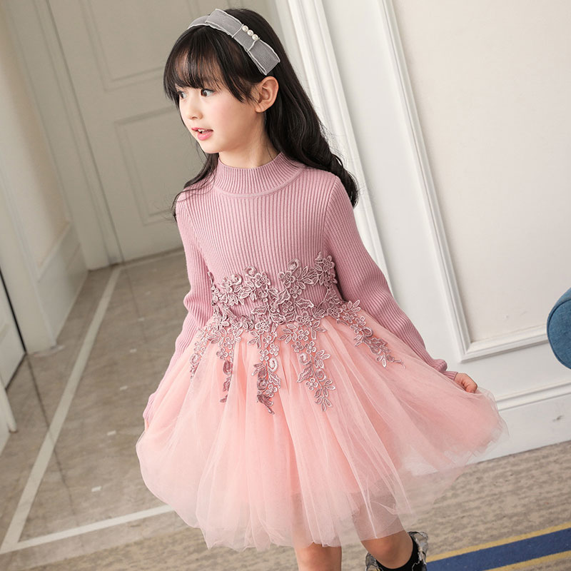 60f1a0c55e0b2 Baby Girl Winter Dress 2017 Fashion Spring Autumn Princess Girl Long Sleeve  Sweater TuTu Dress Kids Christmas Dresses For Girls-in Dresses from Mother  ...